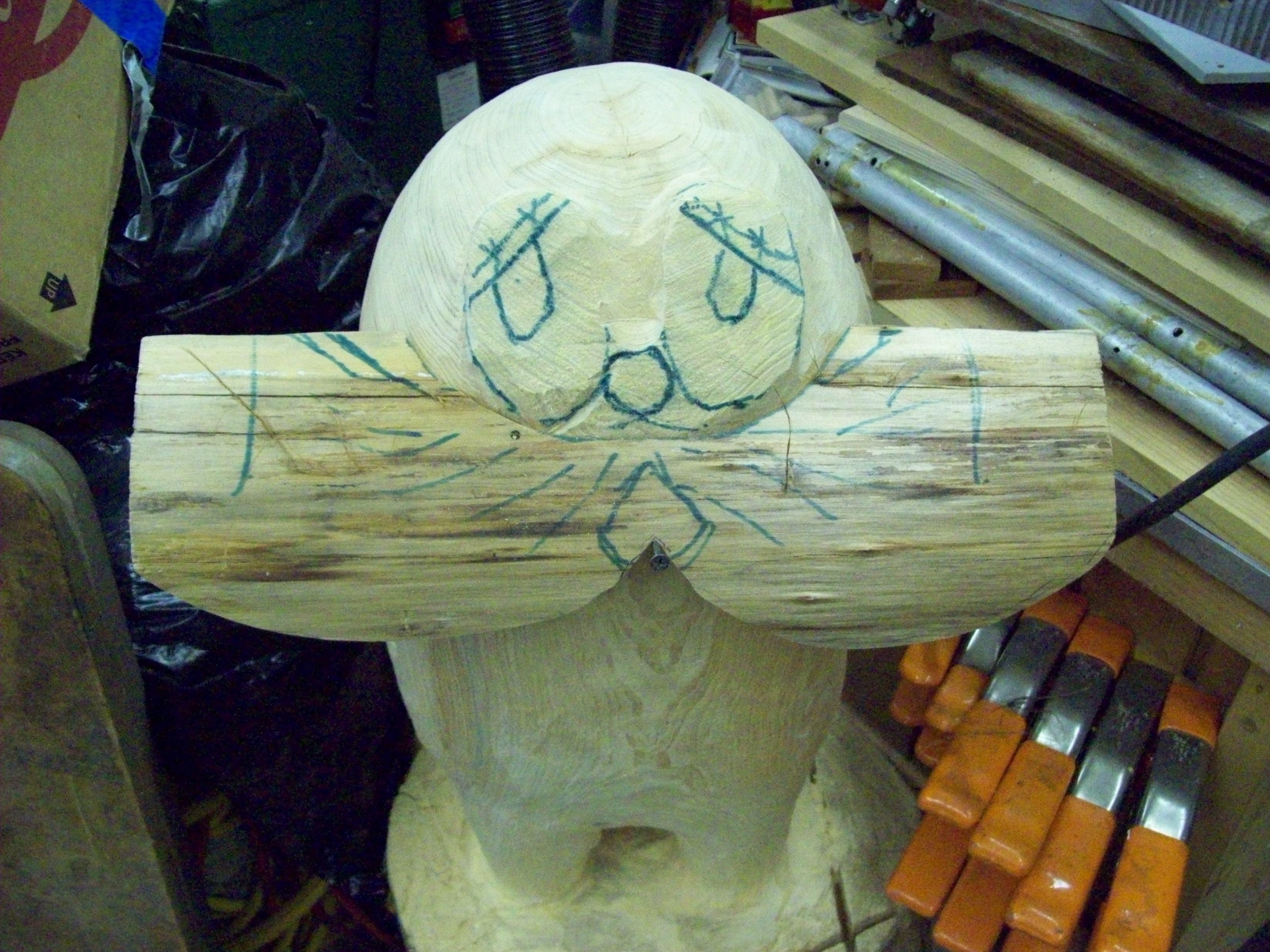 Lorax Carving 5